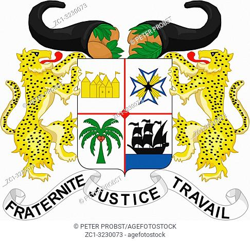 National coat of arms of the Republic of Benin
