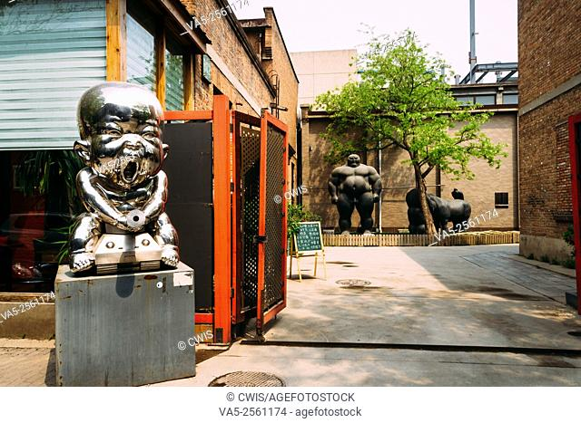 Beijing, China - The view of 798 Art zone in the daytime