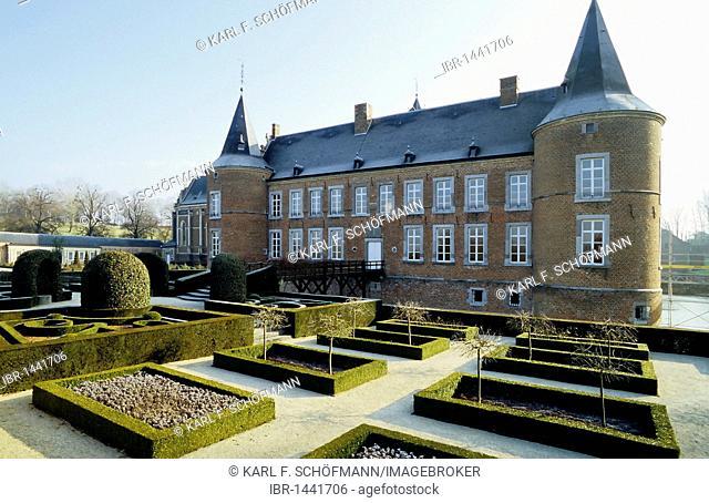 Alden Biesen Castle, garden front, Tongeren, Limburg, Belgium, Europe