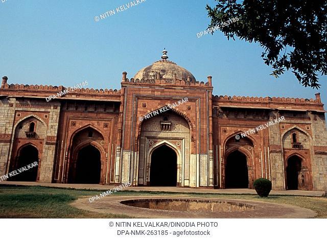 View of Qila-i-Kuhna Mosque, Purana Qila, New Delhi, India, Asia