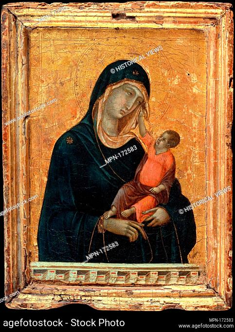 Madonna and Child. Artist: Duccio di Buoninsegna (Italian, active by 1278-died 1318 Siena); Date: ca. 1290-1300; Medium: Tempera and gold on wood; Dimensions:...