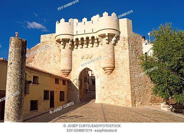 Santa Maria door, Hita, Guadalajara province,Castilla-La Mancha, Spain