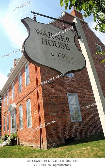 Sign for the Warner House, built circa 1716  Portsmouth, New Hampshire, United States