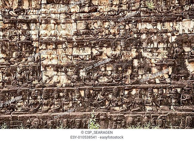Carvings On The Leper King Terrace