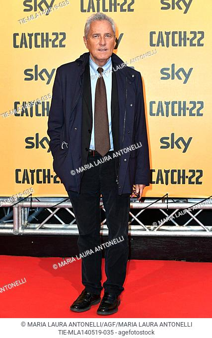 Francesco Rutelli during the Red carpet for the Premiere of film tv Catch-22, Rome, ITALY-13-05-2019