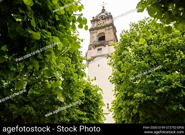 07 June 2020, Saxony, Bautzen: The Reichenturm, a building of the former city fortifications of the city of Bautzen, built in 1490/1492
