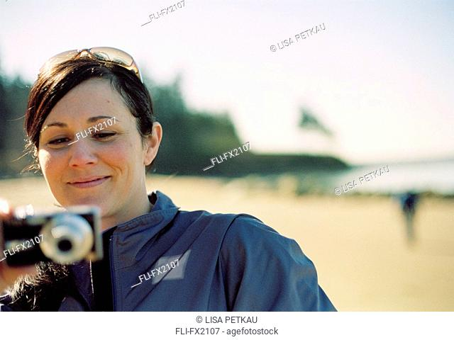 Woman with Digital Camera
