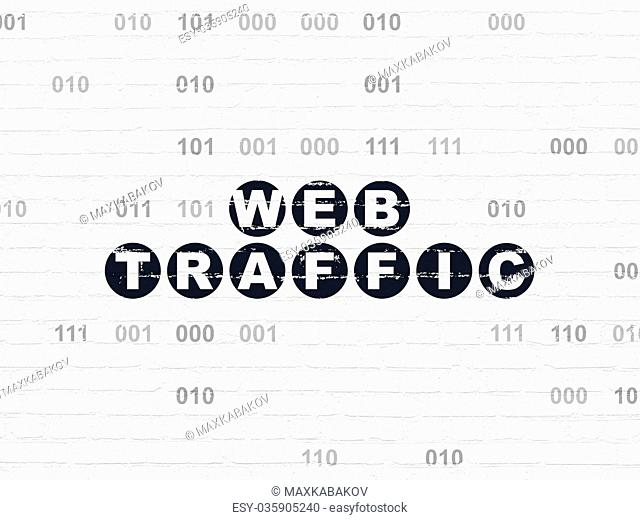 Web development concept: Web Traffic on wall background