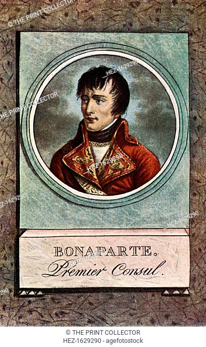 'Premier Consul', c1803, (c1920). Portrait of Napoleon (1769-1821) as First Consul. From Story of the British Nation, Volume III by Walter Hutchinson