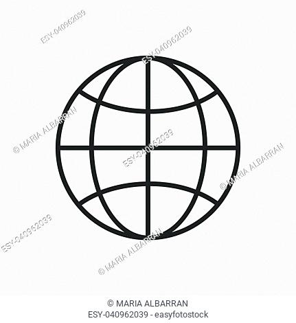 World line icon on a white background. Vector illustration