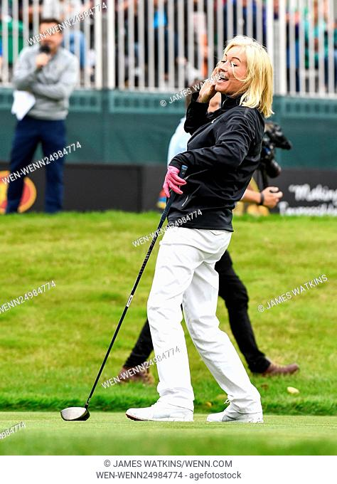 The Celebrity Cup 2016 at Celtic Manor, Wales Featuring: Denise Van Outen Where: Wales, United Kingdom When: 09 Jul 2016 Credit: James Watkins/WENN