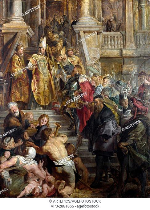 Peter Paul Rubens. Saint Bavo is received by Saints Amand and Floribert. 1610. The National Gallery - London