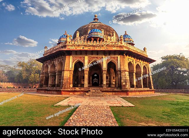 Isa Khan Mausoleum in the Humayun's Tomb complex in Delhi, India