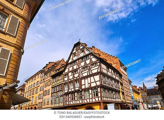 Strasbourg city facades in Alsace France