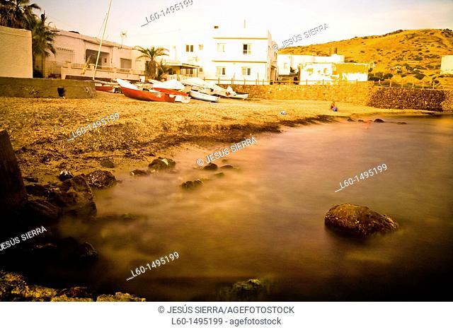 Beach in Isleta del Moro, Cabo de Gata, Almeria