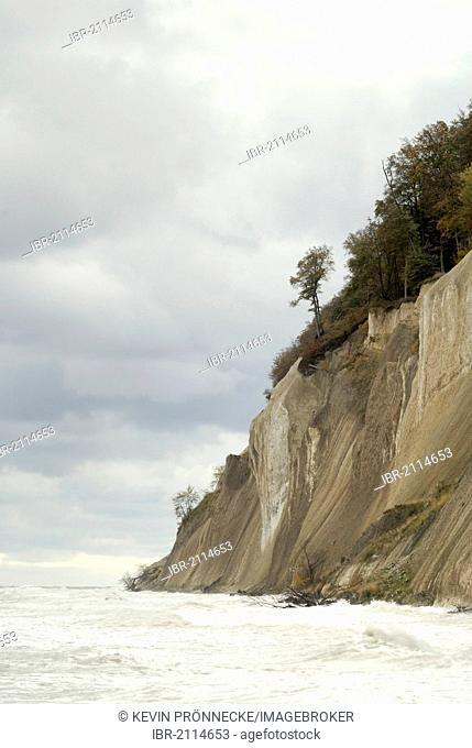 Cliffs near Sassnitz, Ruegen, Mecklenburg-Western Pomerania, Germany, Europe