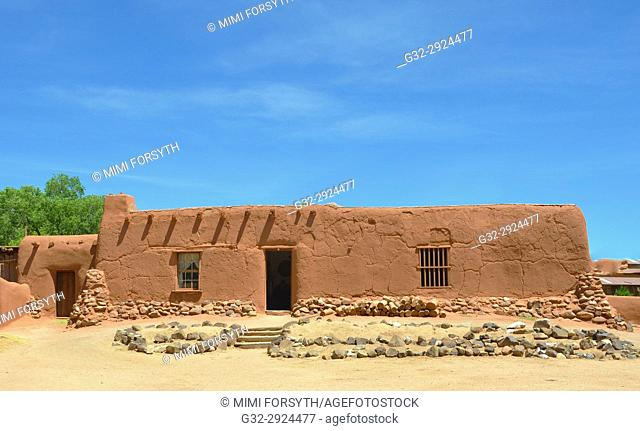 old adobe buildings, rural residence, New Mexico