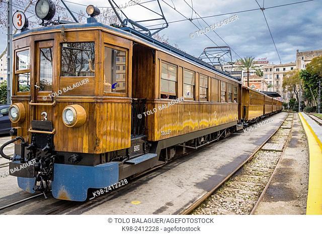 tren de Soller, (ferrocarril Palma-Soller), Majorca, Balearic Islands, Spain