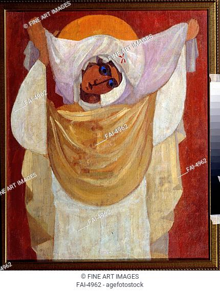 The Virgin of the Intercession. Chupyatov, Leonid Terentievich (1890-1941). Oil on canvas. Russian avant-garde. 1920-1930. Private Collection. 67x54,3