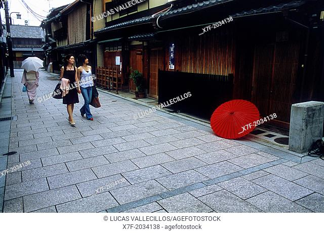 Alley in Gion quarter,Kyoto, Japan