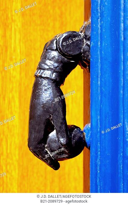 Door knock, Gironde, Aquitaine, France