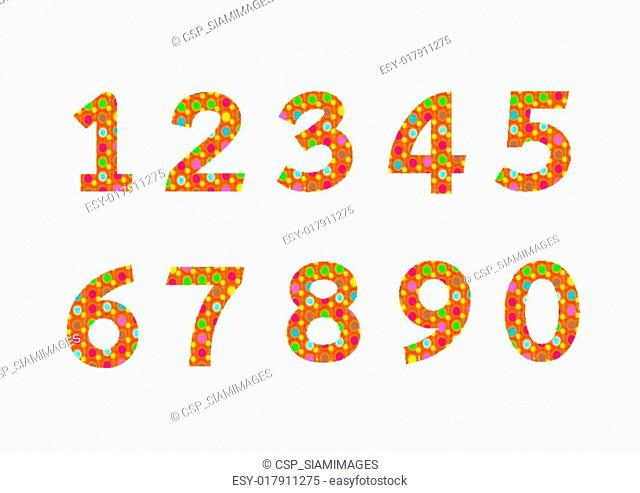 Numbers set in illustration , abstract number