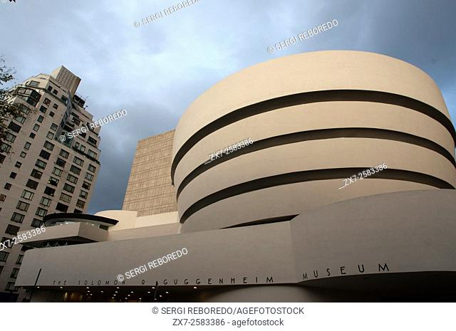 NEW YORK Solomon R. Guggenheim Museum. 1071 Fifth Avenue and 89th Street. The museum is named after its founder, Solomon R