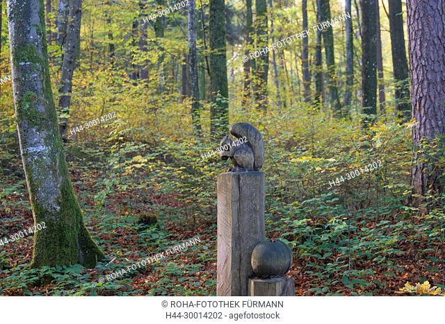 Wanderweg in Teisendorf - der sog. Verschönerungsweg oder Skulpturenweg