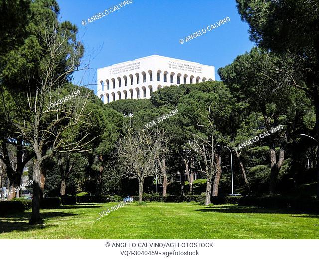 Palazzo della Civilta Italiana, Colosseo Quadrato, EUR, Expo, Rome, Italy, Esposizione Universale