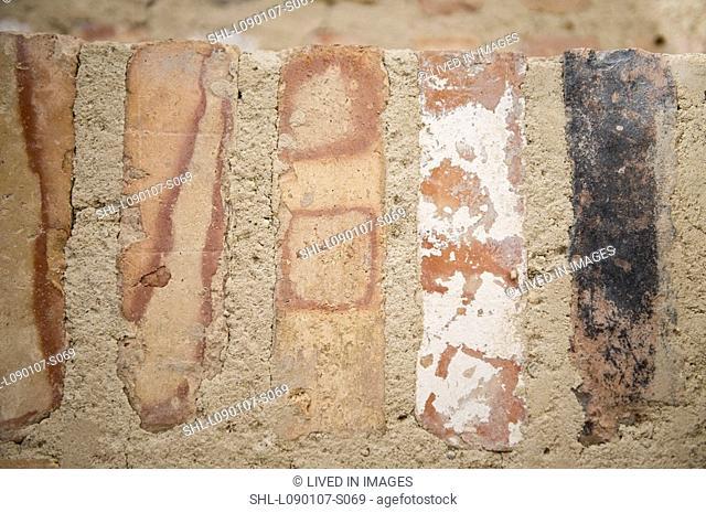 Close up brick steps