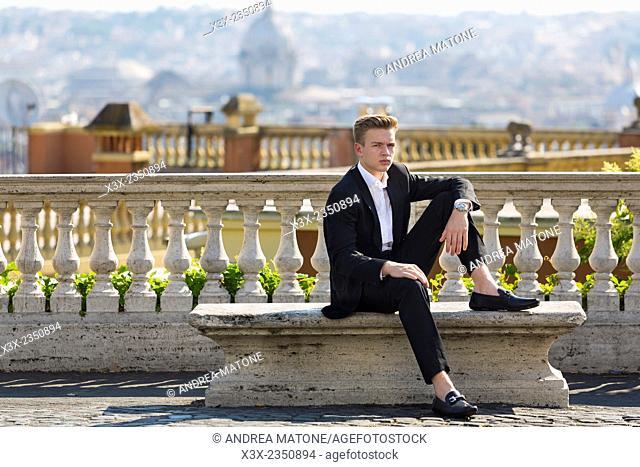 Male model portrait. Gianicolo. Rome, Italy
