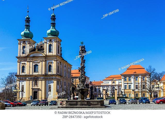 Church of the Annunciation, Castle, Main Square, Duchcov, Czech Republic, Europe
