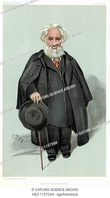 William Huggins, British astronomer and spectroscopist, 1903. Huggins (1824-1910) was the inventor of the solar spectroscope and the first to distinguish...
