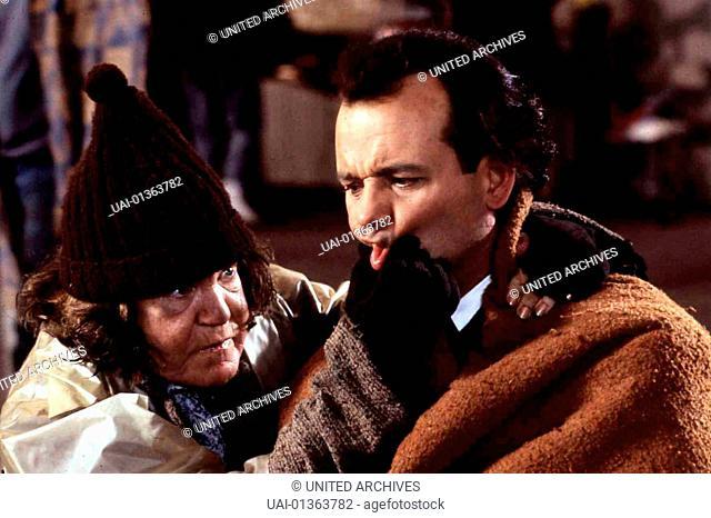 Die Geister, Die Ich Rief..., Scrooged, Die Geister, Die Ich Rief..., Scrooged, Anne Ramsey, Bill Murray  Franks (Bill Murray) Meinung ueber Weihnachten aendert...