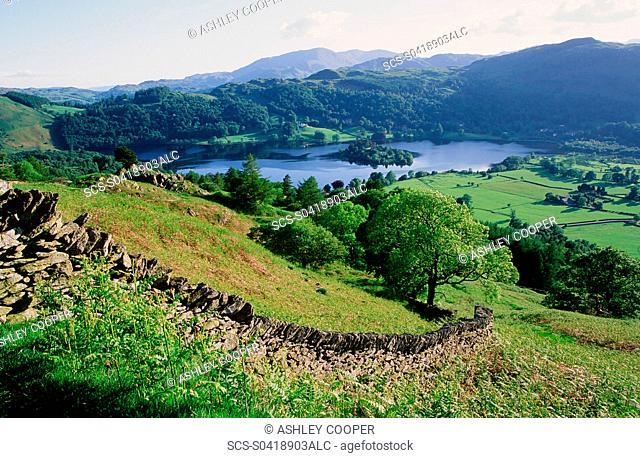 Grasmere in the Lake District UK