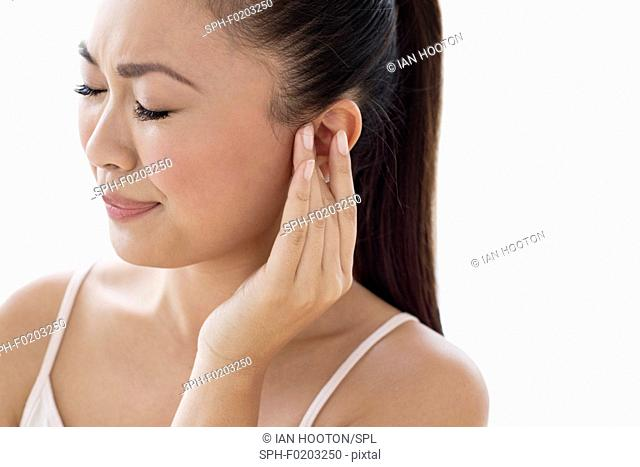 Woman with earache
