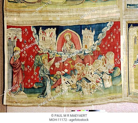 La Tenture de l'Apocalypse d'Angers, Le septième flacon versé dans l'air 1,55 x 2,48m, der siebte Engel gießt seine Schale aus in die Luft