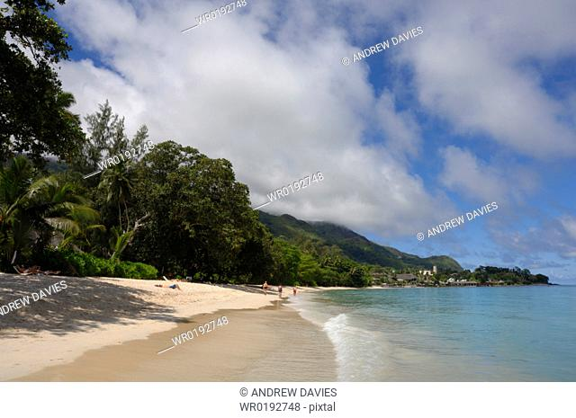 Meridien Fisherman's Cove Hotel and Beau Vallon beach, Mahe, Seychelles, Indian Ocean
