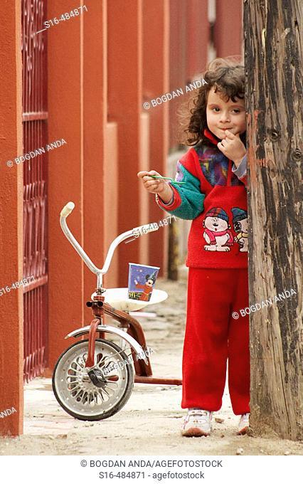 Little girl eating ice-cream – Bucharest, Romania