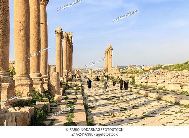 Amman, Jordan: Ruins of the ancient Jerash, the Greco-Roman city of Gerasa in modern Jordan