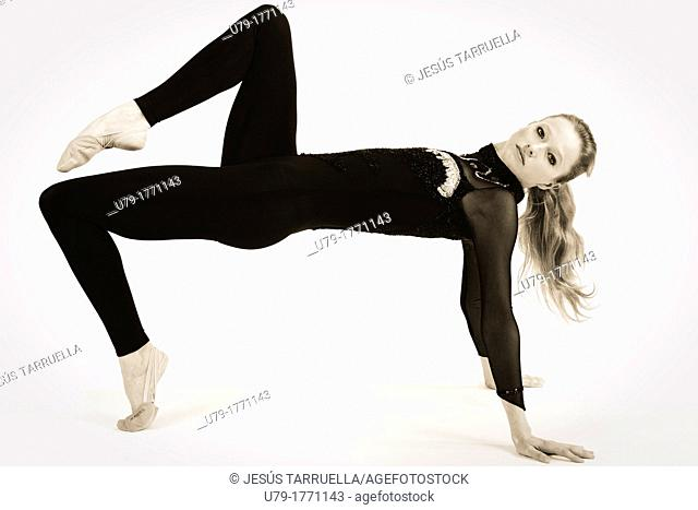 Portrait of woman  Athlete of rhythmic dance