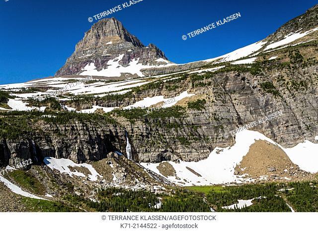 Clements Mountain near Logan Pass in Glacier National Park, Montana, USA