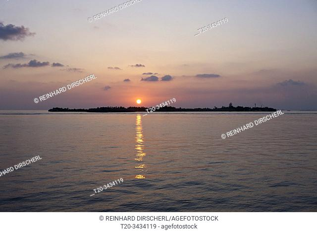Sunset at South Male Atoll, South Male Atoll, Indian Ocean, Maldives