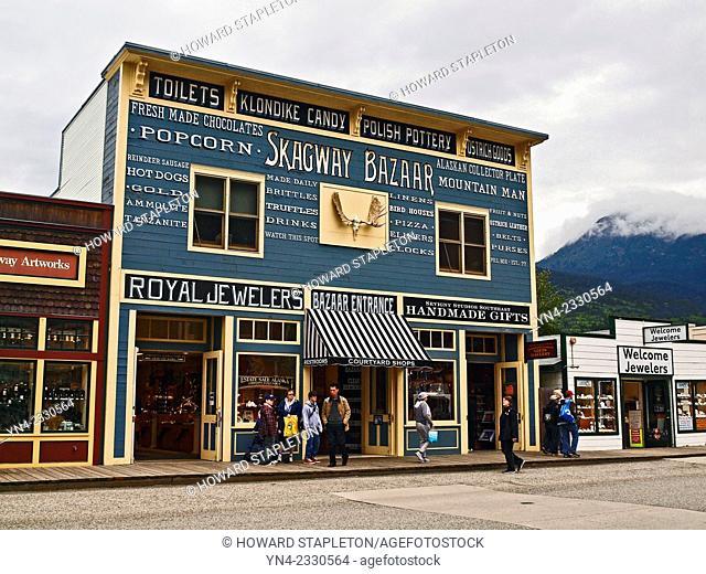Skagway Bazaar and shops. Skagway, Alaska