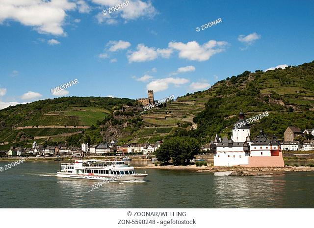 Castle Kaub and Pfalzgrafenstein