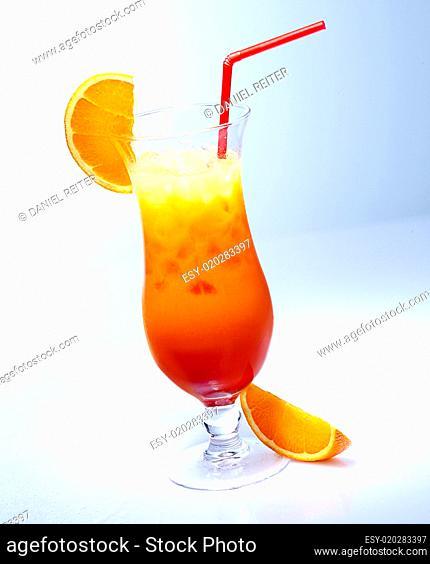 Fresh iced orange cocktail