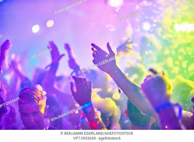 Hands in the air at music festival