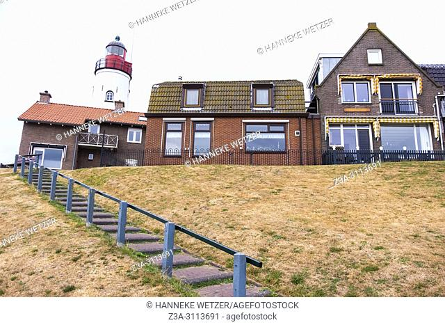 Lighthouse in Urk, the Netherlands, Europe