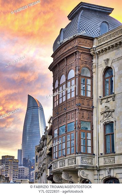 Street in Icheri Sheher, Baku Azerbaijan