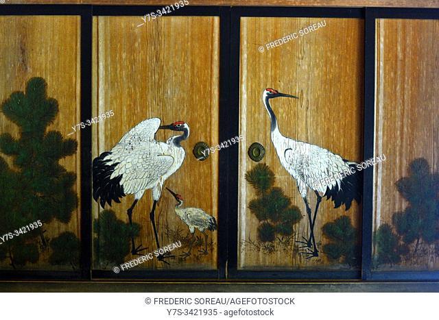Painting in Kongobuji temple, Koyasan, Japan, Asia